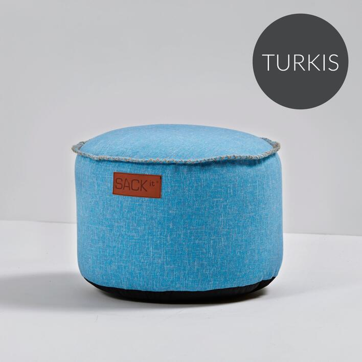 RETROit Cobana Drum puf Turkis